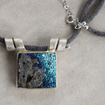 "Mosaic jewelry: CC jewels collection, pendant ""Pantelleria"" #1"