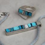 """Gioielli in mosaico: dalla collezione Gioielli CC, """"Vibrazioni"""" pendente #19 e anello #7"""