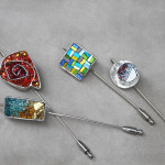 Mosaic jewelry: CC jewels collection, brooches