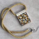 "Mosaic jewelry: CC jewels collection, pendant ""Tessuto antico"" #15"