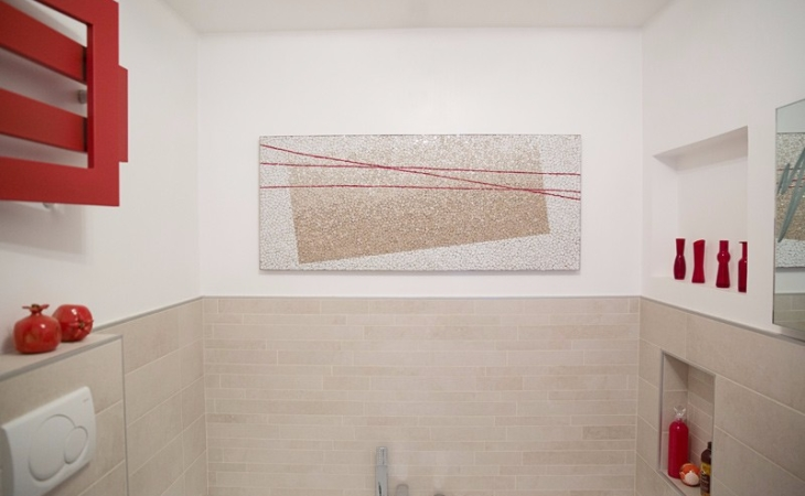 Mohamed Chabarik, Happy texture, work of art in contemporary mosaic