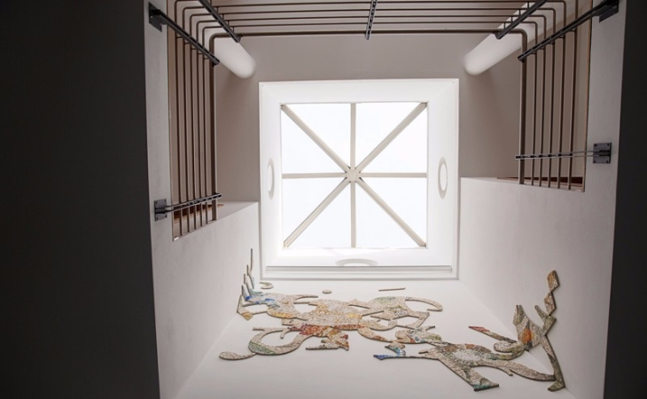 Laura Carraro and Mohamed Chabarik, Knowing, work of art in contemporary mosaic