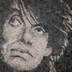 "Mohamed Chabarik, ""Personaggi da terra (Characters from Earth). Fabrizio De Andrè"", 2010. 100 x 100 cm"