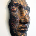 """Mohamed Chabarik, """"E tu, di che metallo sei?"""" -serie """"A viso aperto"""", 2018. 120 x 80 cm ca. Foto Gianluca Bacchetti"""