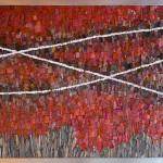 "Mohamed Chabarik, ""Primavera d'autunno"" (Autumn spring), 2014. 126 x 86 cm"