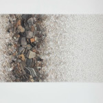 """Laura Carraro, """"Ridestare - Terra del friuli"""", dettaglio, 2018. 250 x 80 cm"""
