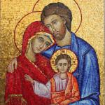"""""""Sacra Famiglia"""", 2015. Realizzata per Scuola Mosaicisti del Friuli. 100 x 150 cm"""