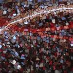 """Mohamed Chabarik, particolare di """"Sentiero"""", 2011. 180 x 40 cm ca."""