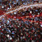 "Mohamed Chabarik, ""Sentiero"" (Path) detail, 2011. 180 x 40 cm ca."