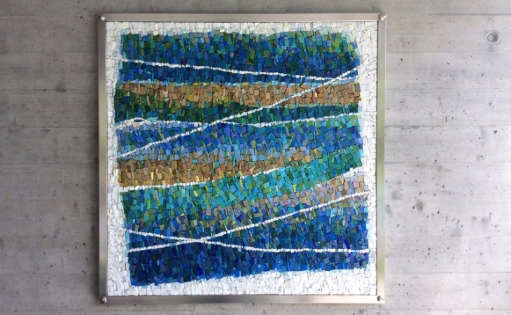 Mohamed Chabarik, Spartiacque, work of art in contemporary mosaic
