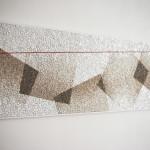 """progetto di Mohamed Chabarik, """"Texture ottimista"""", 2018. 160 x 50 cm."""
