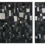"Mohamed Chabarik, ""Triptyque en noir"", 2013. 105 x 40 cm ca."
