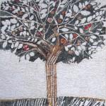 """""""L'albero dell'amicizia"""", 2010. Realizzata con associazione Eclektic in un progetto per la scuola dell'infanzia M. Volpe di Spilimbergo, su bozzetto di Giulio Candussio. 245 x 380 cm"""