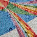"""""""Arcobaleno"""", 2007. Realizzata per Scuola Mosaicisti del Friuli. 100 x 100 cm"""