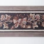 """""""Tralcio di vite"""", copia reinterpretata di un mosaico romano (Aquileia, I° sec. a.C.), 2013-2014. 165 x 75 cm"""