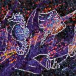 """""""Fondale marino"""", 2011. Realizzata per Scuola Mosaicisti del Friuli su bozzetto di Stefano Jus. 150 x 38 cm"""