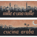 "Signs ""Mille e una notte"" restaurant, Udine, 2006. 200 x 80 cm"