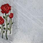 """""""Rose"""", inserto musivo in loculo di marmo, 2015"""