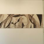 """Laura Carraro, una moderna """"Sacra Famiglia"""" (a modern Holy Family), 2014. 213 x 60 cm"""