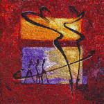 """""""Rhumba in red"""", 2011. Realizzata per Scuola Mosaicisti del Friuli. 100 x 100 cm"""