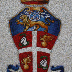 Carabinieri (Police) coat-of-arms, realized for Scuola Mosaicisti del Friuli, 2009. 80 x 120 cm