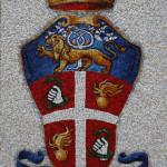 Stemma dei carabianieri, realizzato per Scuola Mosaicisti del Friuli, 2009. 80 x 120 cm