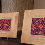 Plates for Terzani Prize - Vicino Lontano festival, Udine, since 2012. 25 x 25 cm