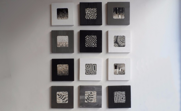 collection of mosaics in square format