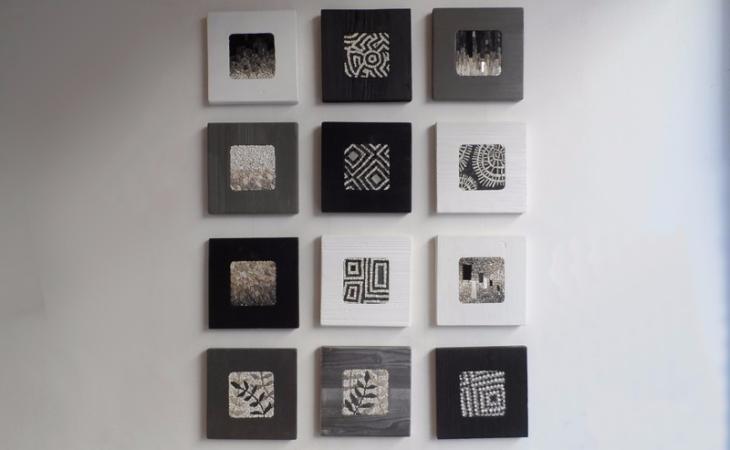 collezione di mosaici in formato quadrato