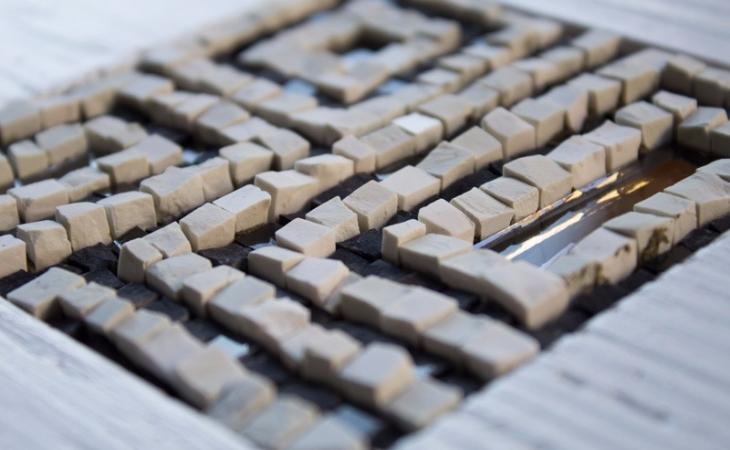 particolare piccoli mosaici, foto di Omar Akkad