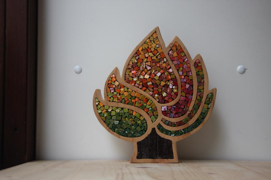 Alberi in mosaico e legno: Collezione Foresta Salva
