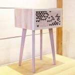 """""""Comodino"""", inserto musivo su design e realizzazione legno di Alessandro Pasquali, 2015."""