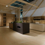 Mosaic inserts for Sine Tempore kitchen, Valcucine. Salone del mobile, Milano, 2014. ©Valcucine