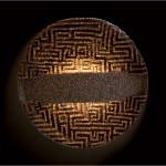 """""""Lampada 1"""", 2008. Marmi e resina su base di metallo tridimensionale (vecchia parabola). Diametro 90 cm"""