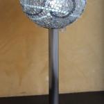 """""""Lampada Plexi"""", 2010. Plexiglass e acciaio inox. Altezza 70 cm."""