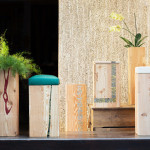 """Paralleli"", collection of vases/stools/boxes in collaboration with Alessandro Pasquali, since 2013. Different sizes, from 50 to 70 cm high. Photo Giovanni Chiarot/Zeroidee"