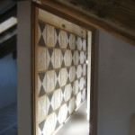 Wall covering with marbles and cocciopesto, 2008. Private villa, Cortina d'Ampezzo (Belluno)