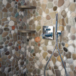 Shower made with river stones, 2012. Private house, Udine. Photo Giovanni Chiarot/Zeroidee