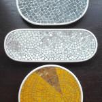 """""""Piatti"""" serie lucido e opaco, design forme Simone Bonanni, design e produzione mosaico Carraro Chabarik, 2018. Ceramica; smalti e ori veneziani., pietra"""