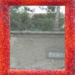"""""""Specchio rosso-arancio"""", 2013. Smalti veneziani. 90 x 100 cm"""