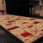 """partciolare di """"Sinestetico"""", tavolino, 2015."""