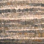Modulo paritale con texture di sassi di fiume