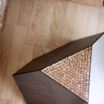 """Poliedro"", tavolino-seduta design Mohamed Chabarik, 2017. 45 x45 x45 cm ca."