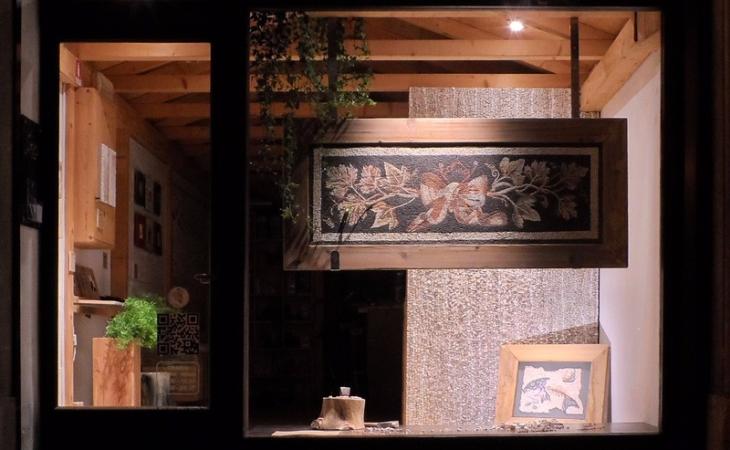 interpretazioni di mosaici antichi, mosaico romano da Aquileia