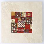 Marmo e Mosaico: Mrmr con base in Travertino bianco