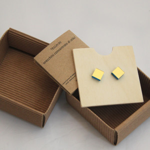 orecchini Tesserae Oro (giallo naturale)
