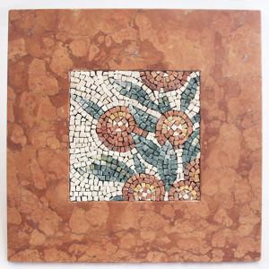 mosaico romano con cornice in marmo Carraro Chabarik