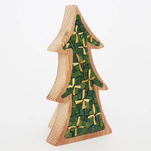 alberelli mosaico a forma di pino natalizio