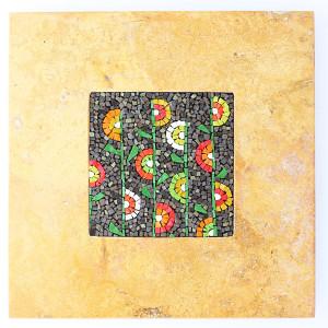 quadro mosaico con cornice in marmo Carraro Chabarik