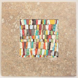 quadro mosaico con cornice in marmo